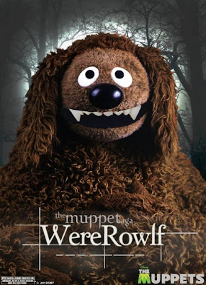 The Muppets Twilight Themed One Sheet Character Movie Posters - &#8220;The Muppet Saga&#8221; Rolf as WereRowlf (Jacob)