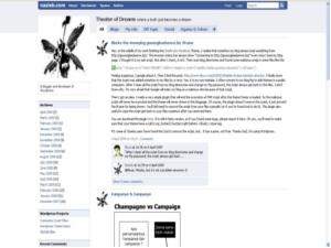 Facebook Template for Blogger