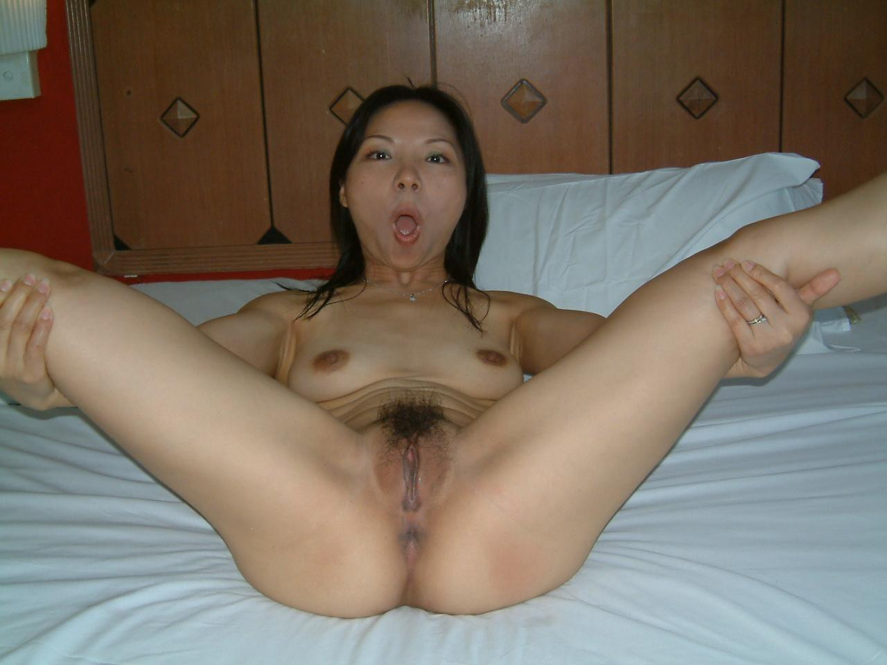 Naked posing asian Mature women