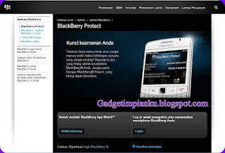 Cara Melacak Blackberry Yang Hilang Dengan GPS Blackberry Protect.JPG