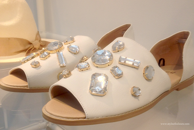 H&M Conscious & Conscious Exclusive flat bejewelled shoes