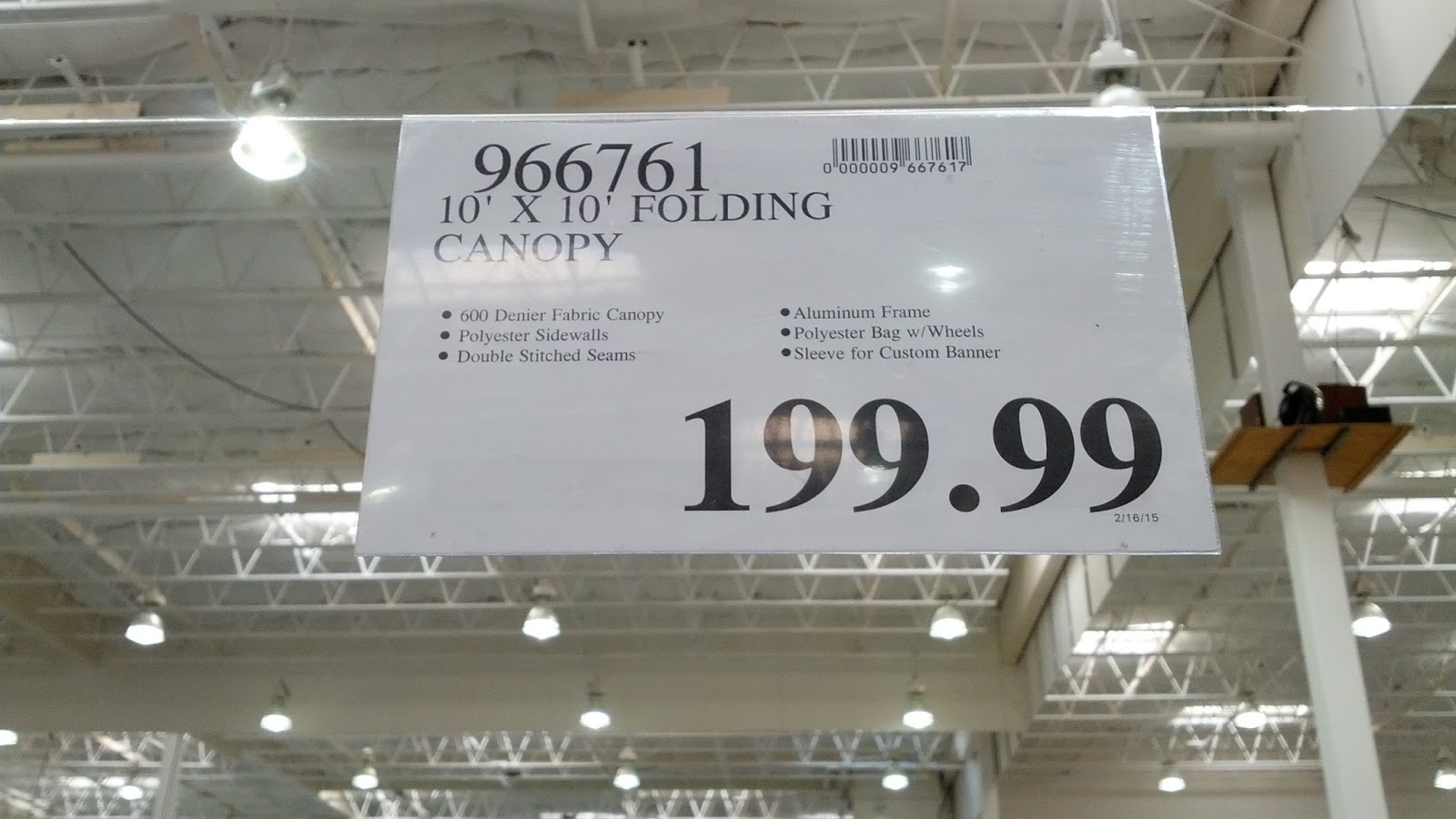 Instant Folding Canopy deal at Costco & Instant Folding Canopy (10u0027 x 10u0027) | Costco Weekender