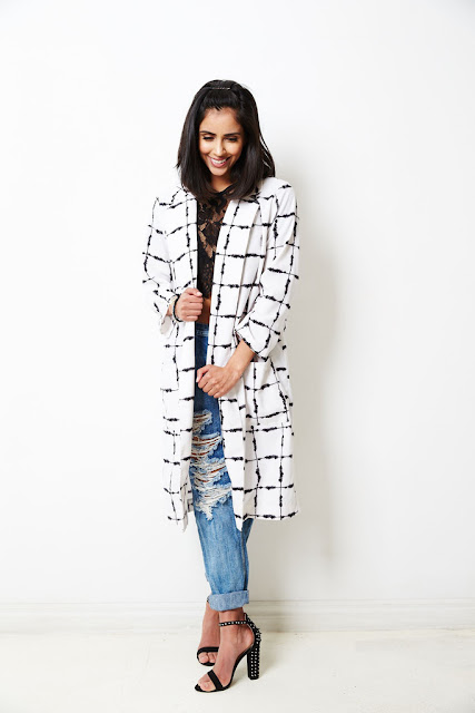Checked Duster coat by Glamorous UK at Fitzroy Boutique