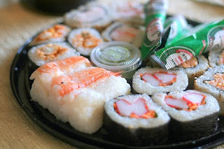 worm sushi