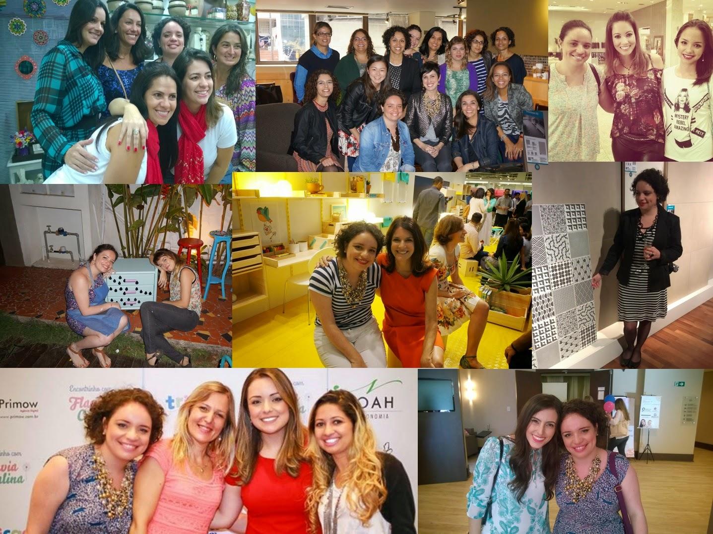 eventos que Carina Pedro participou em 2014 - Flor de Malagueta, Ana Soares, Juliana Goes, Thalita Carvalho, Bel Lobo, Cerâmica Portinari, Flávia Calina, Bruna Dalcin