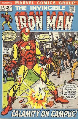 Iron Man #45, student protesters