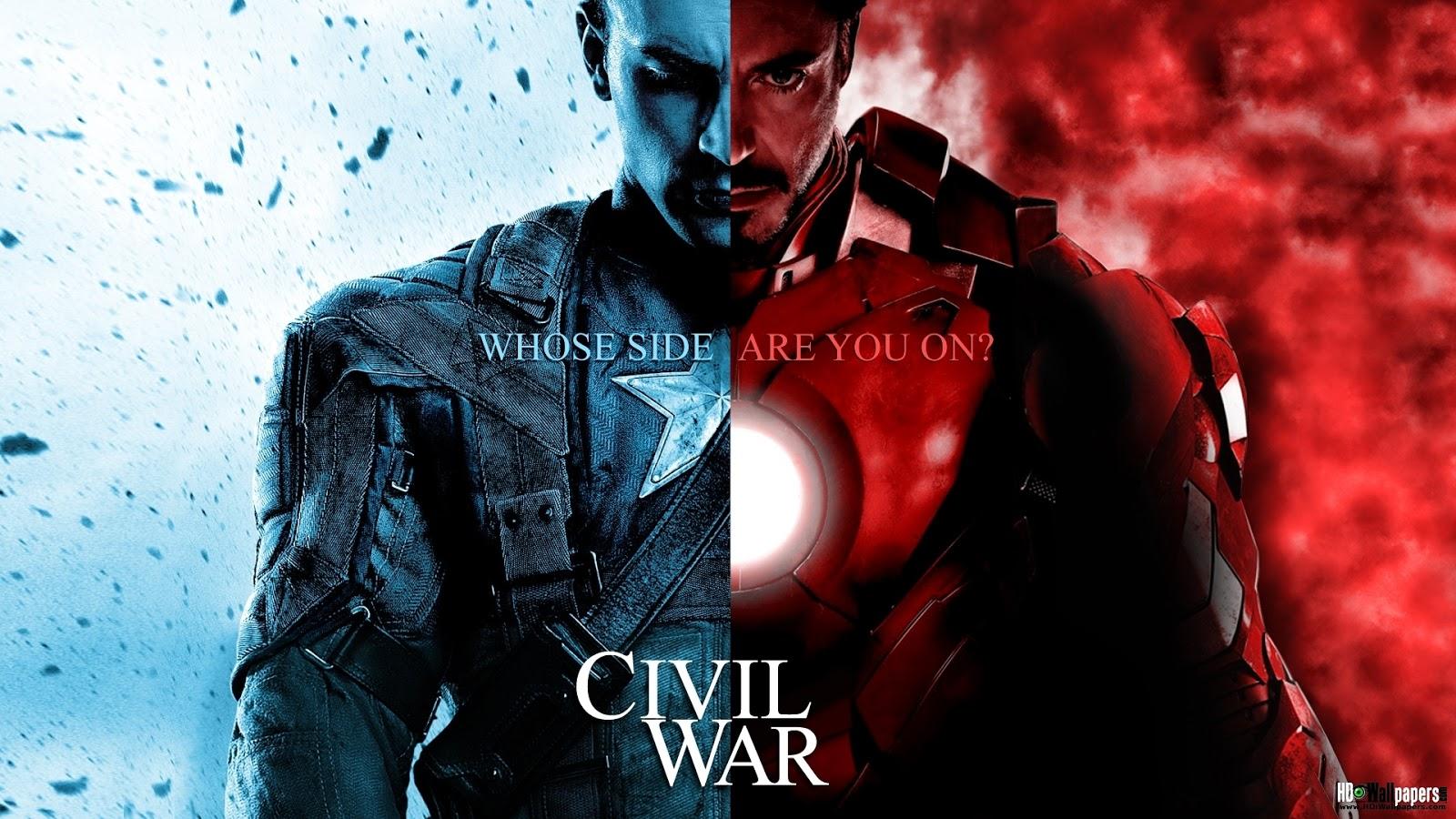 American Civil War Captain America Wallpaper