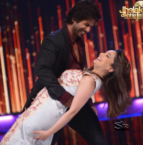 Shahid Kapoor and Madhuri Dixit in Jhalak