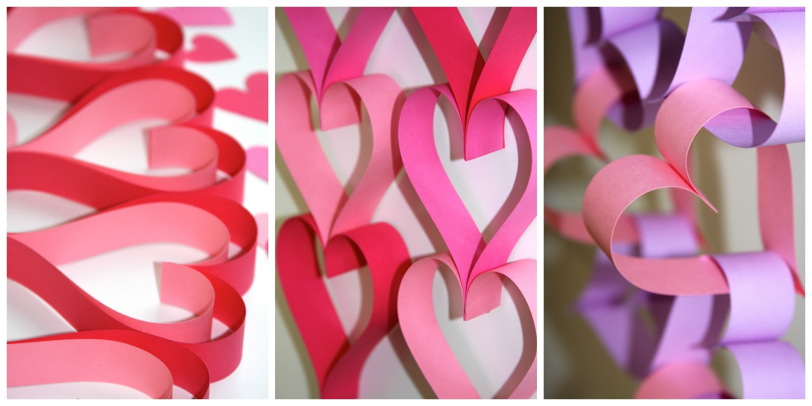 Valentine\'s Day Paper Garlands | A Homemade Living