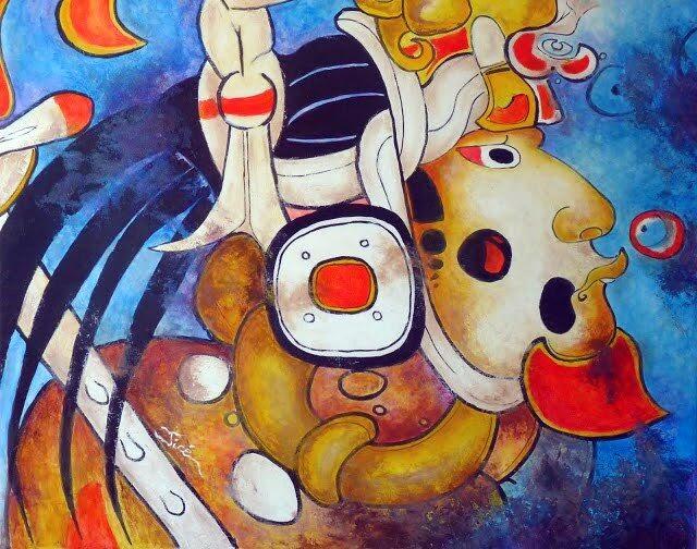 Dios MAYA - Murales San Bartolo - GUATEMALA  - Jicé