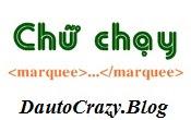 Code Chữ Chạy Cho Blog