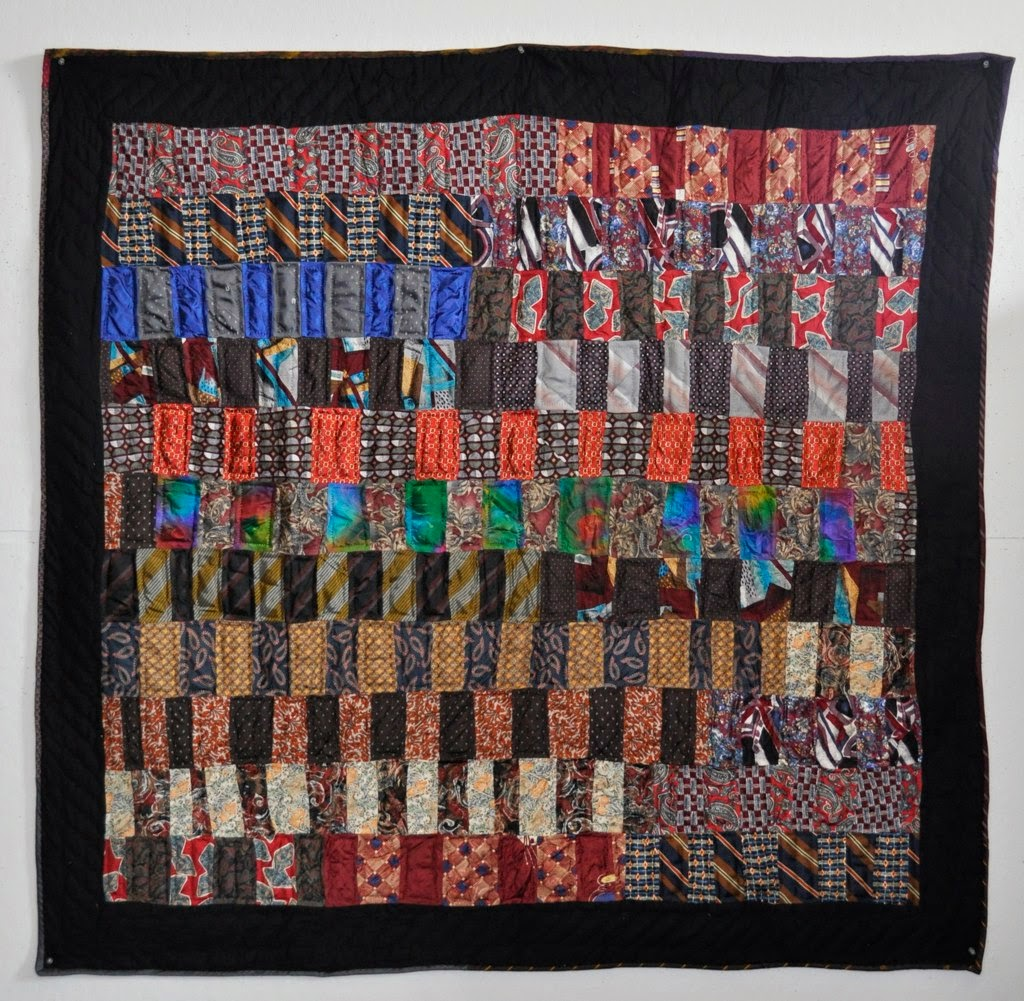 Quilt Inspiration: Necktie quilts for Dad : tie quilt pattern - Adamdwight.com