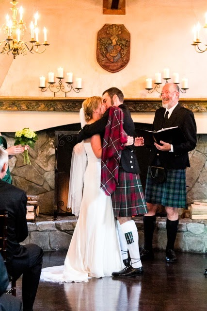 Kent Buttars, Seattle Wedding Officiant, pronounces Adam and Kim married!