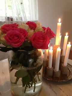 Rosor, bukett, romantik, ljus