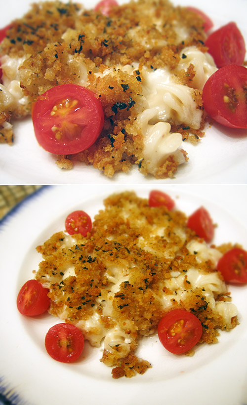 So good! Best mac and cheese- baked with #glutenfree breadcrumb topping.
