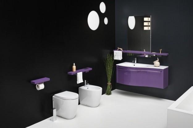 Il mondo di cinzia bagno piccolo ecco tante idee per - Arredo bagno viola ...