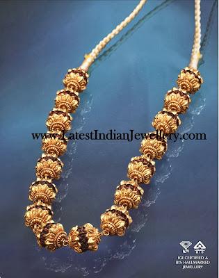 Gold Rudraksha Mala