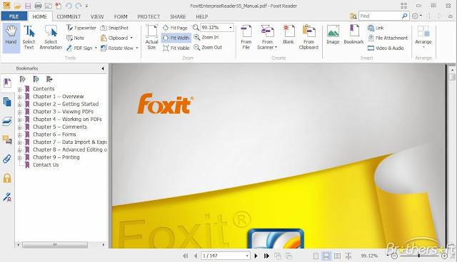 تحميل برنامج فوكست ريدر لعرض وتحرير وإنشاء الملفات بصيغة PDF مجاناً Foxit Reader-611.1031