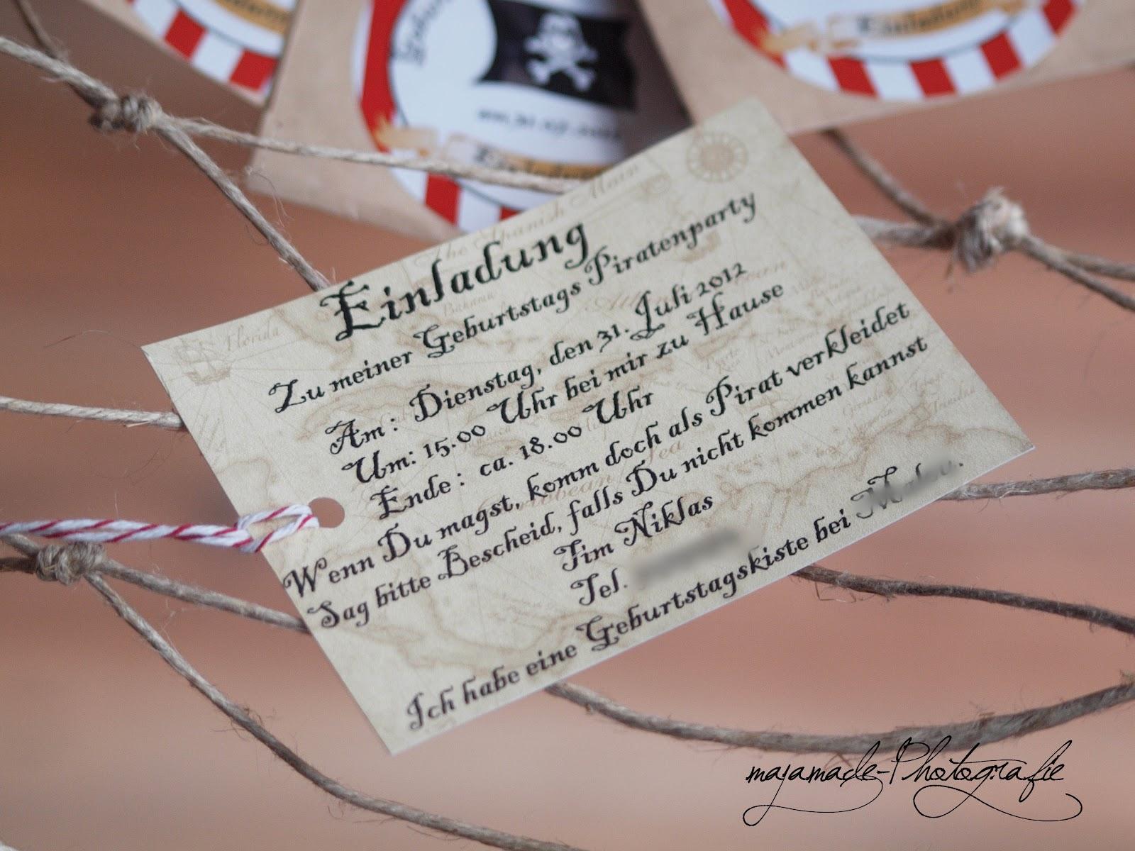 piraten einladung text | brillebrille, Einladung