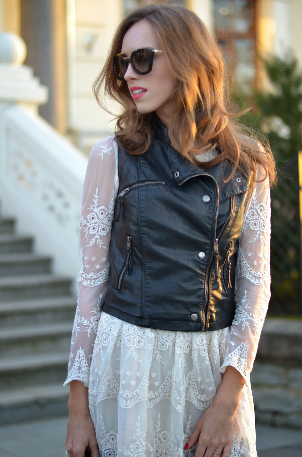 bershka-leather-vest-chicwish-white-dress-fashion-street-style-outfit kristjaana mere