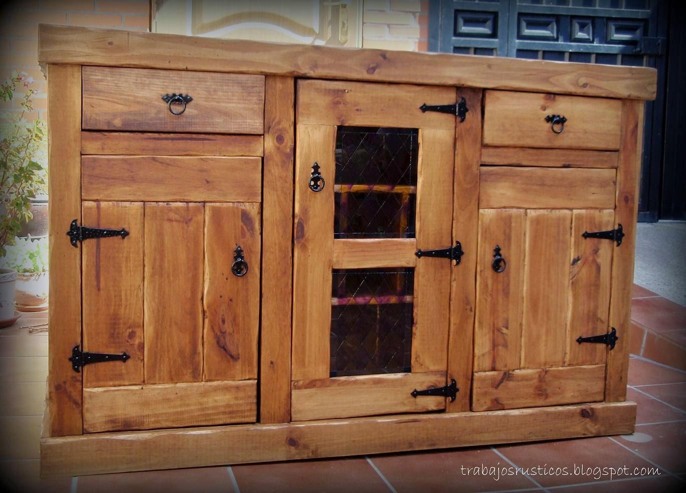 Trabajos r sticos despensa aparador cocina for Muebles de cocina despensa