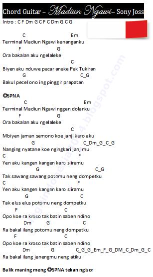 Chord Guitar - Madiun Ngawi - Sony Joss