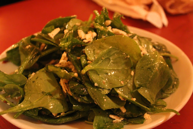 Baby spinach salad at Otto, NYC