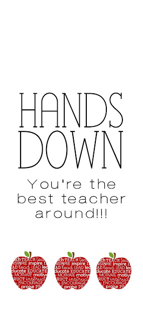 Selective image with hands down you re the best teacher around free printable