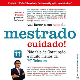 corrupção TDT investigação