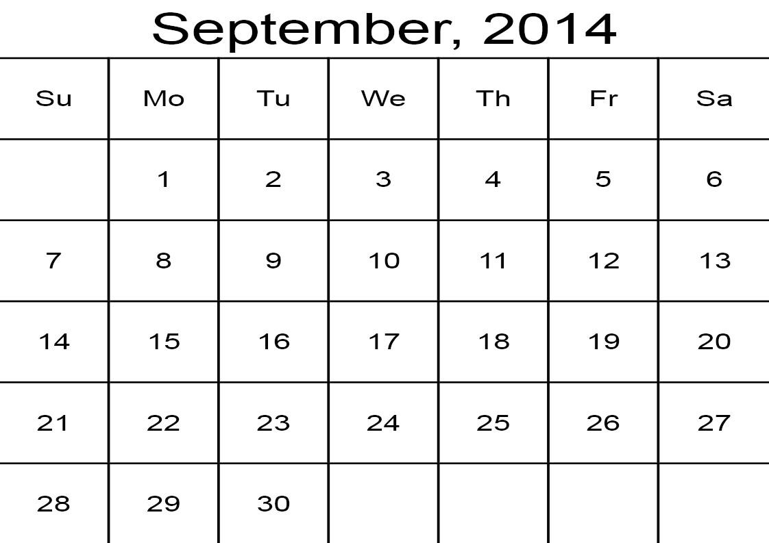 2014 calendar august