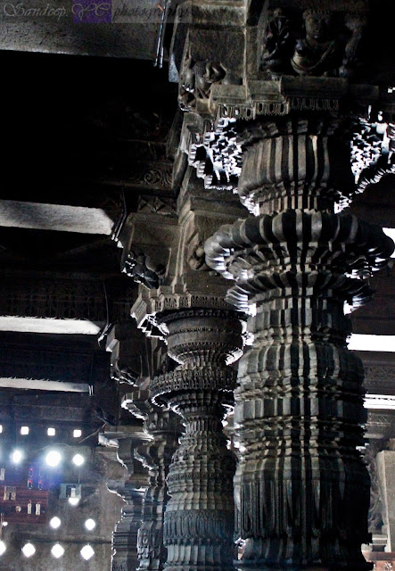 Rows of Pillars, beautifully carved