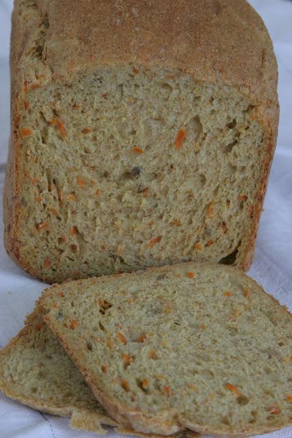 Carrot, Coriander & Sunflower Seed Bread