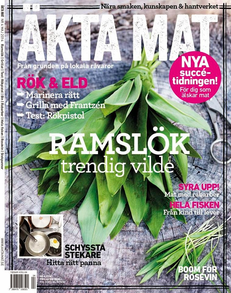 Tidningen Äkta Mat skrev om mig och min ramslök våren 2014