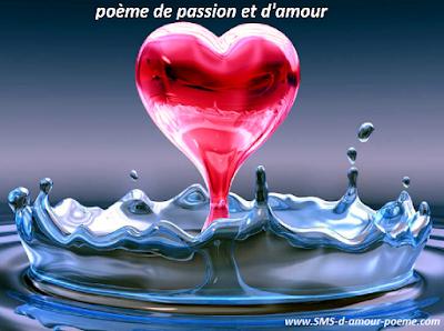 La passion du désir, poème d'amour de mon cœur comme un ballon perd souffle sans passion.