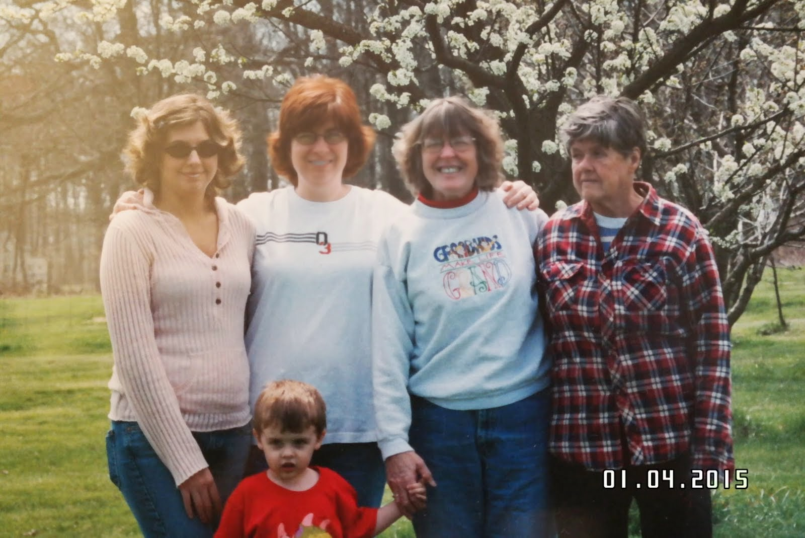 5 Generations - Aunt Dottie, Mom, Me, Jackie, and William