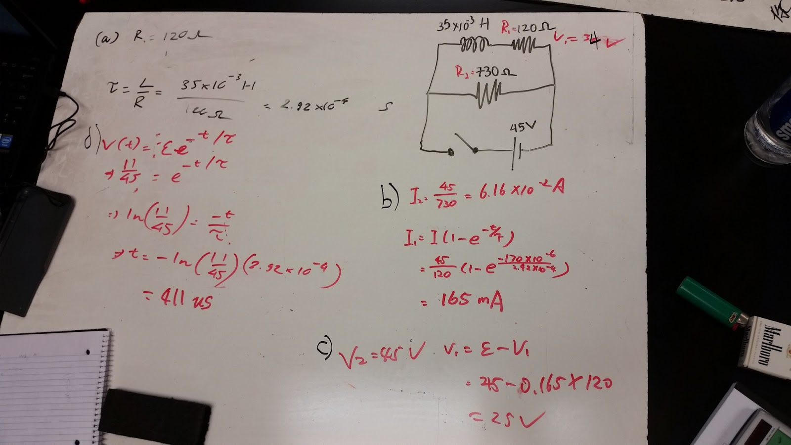 Electronics 10 Zhong If We Increase The Inductance In An Rl Circuit What Happens To Were Given Values Of Inductor 2 Resistors And Voltage Supply Find Time Constant When Switch Is