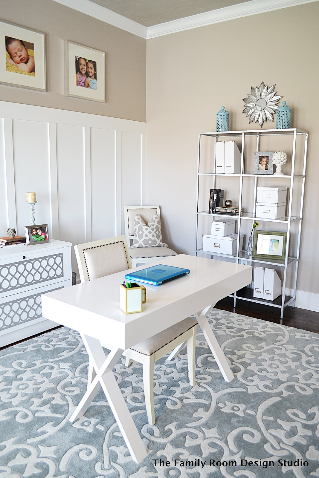 I Am Loving How My Budget Office Has Turned Out So Far. Not Bad For An  Office That Houses An Inexpensive World Market Desk, An IKEA Hack And An  Old Filing ...