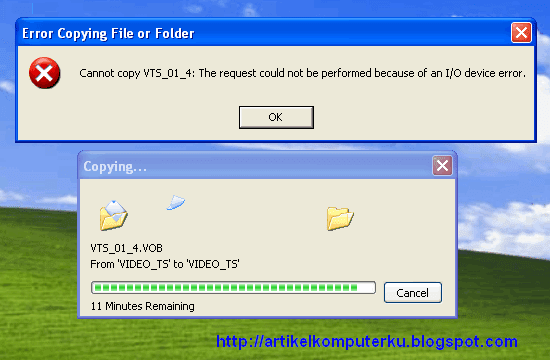 error copy disc