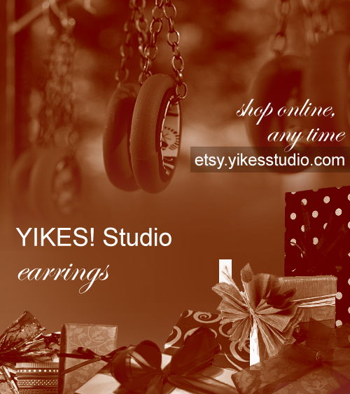 YIKES! Earrings on Etsy for the holidays