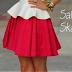 Fique Ligada Na tendência: Saia Skater Skirt