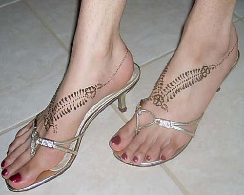 Feet Mehndi Easy : Latest foot mehndi designs desings