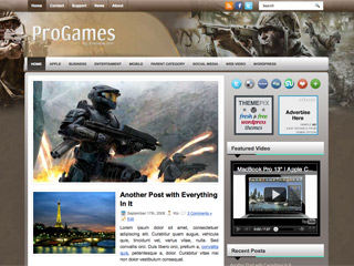 Free ProGames WordPress Theme