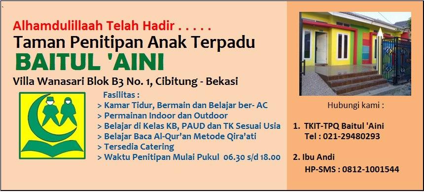 Search Results For: Taman Penitipan Anak Terpadu Baitul Aini Tpa ...