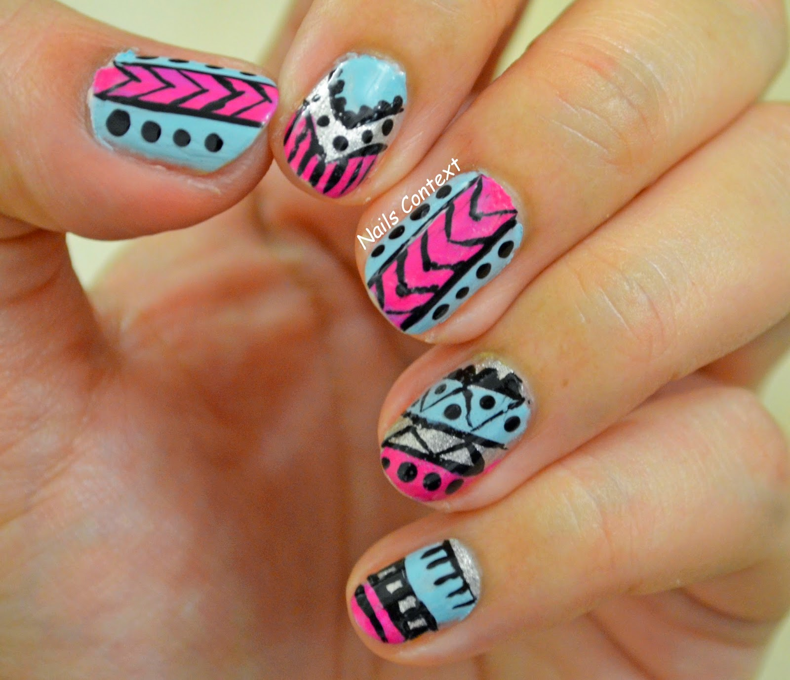 Nails Context: Tribal Nail Art