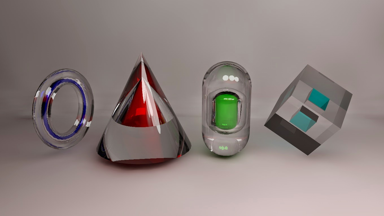 Sample Glass Material Cinema 4D