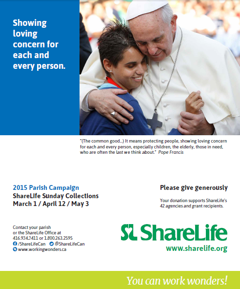 Today is ShareLife Sunday