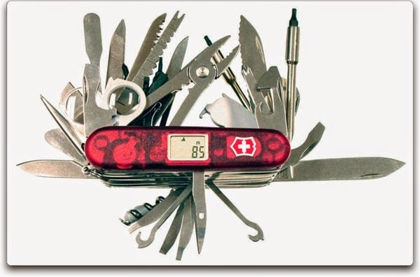 Victorinox Swiss Army SwissChamp XAVT - Side View, with Tools Open