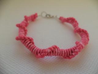 #bransoletka #różowa #pleciona #dla #siostry
