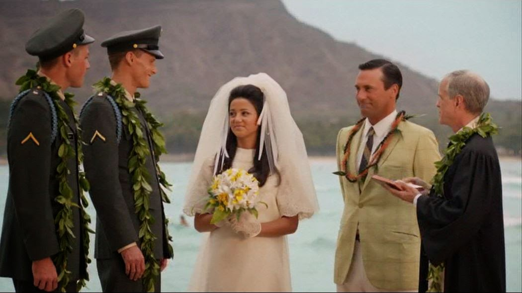 Don Draper Wedding in Hawaii