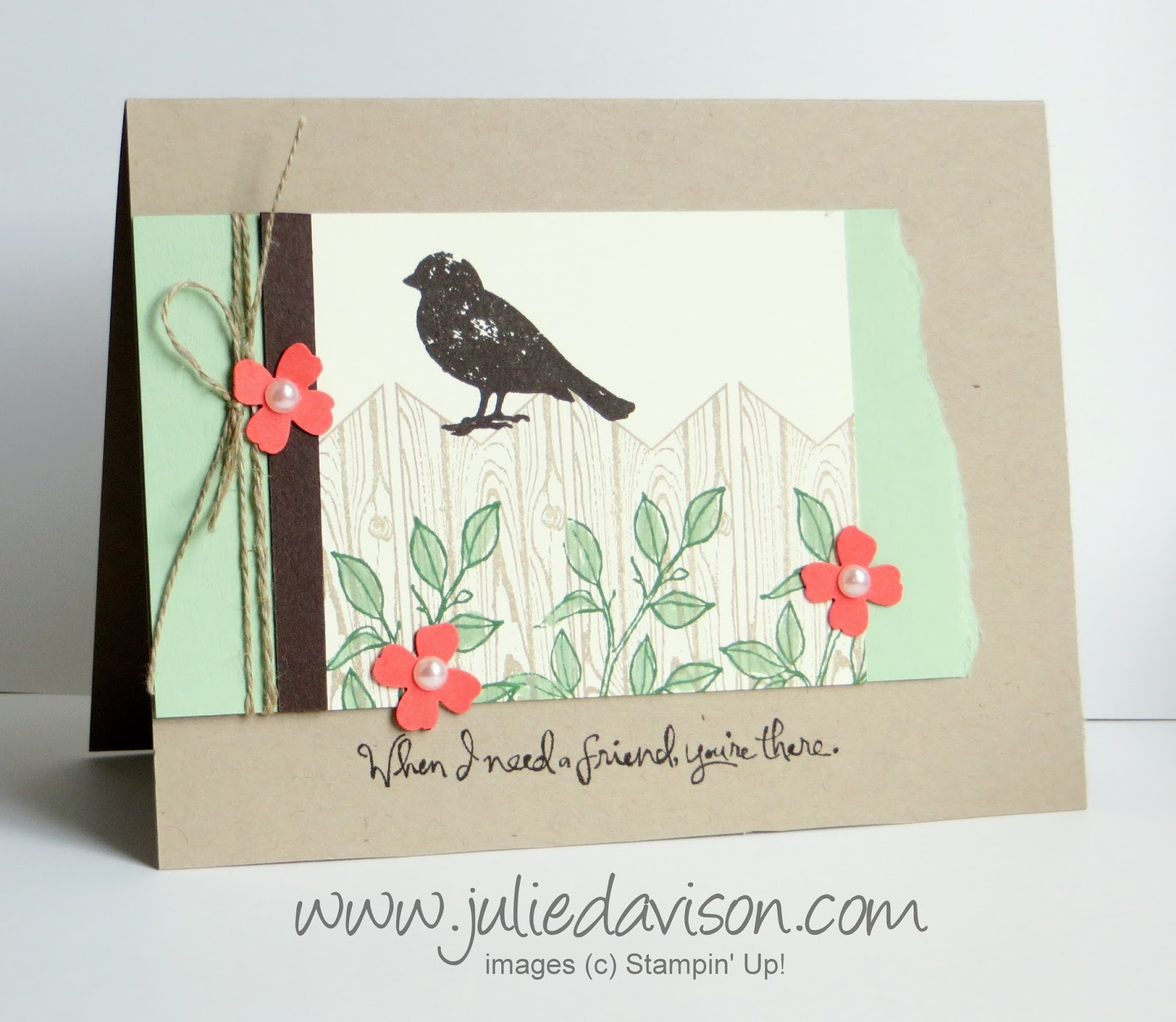 Stampin' Up! Choose Happiness Bird on a Fence card
